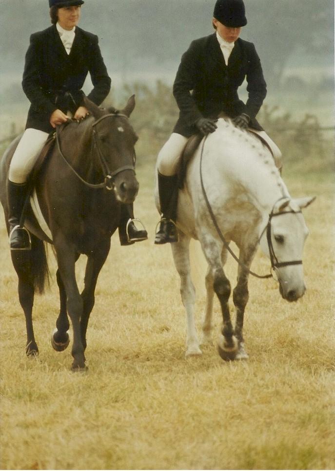 1978 Area Dressage Pairs-finish